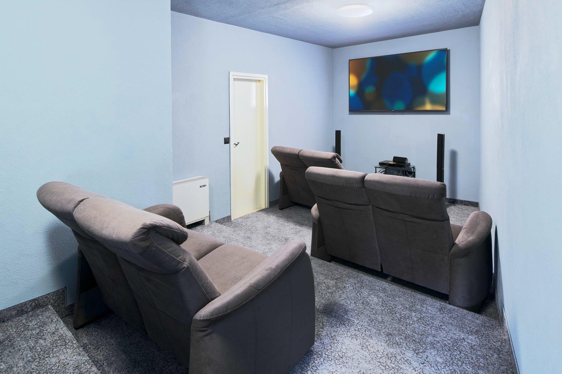 Cozy indoor cinema