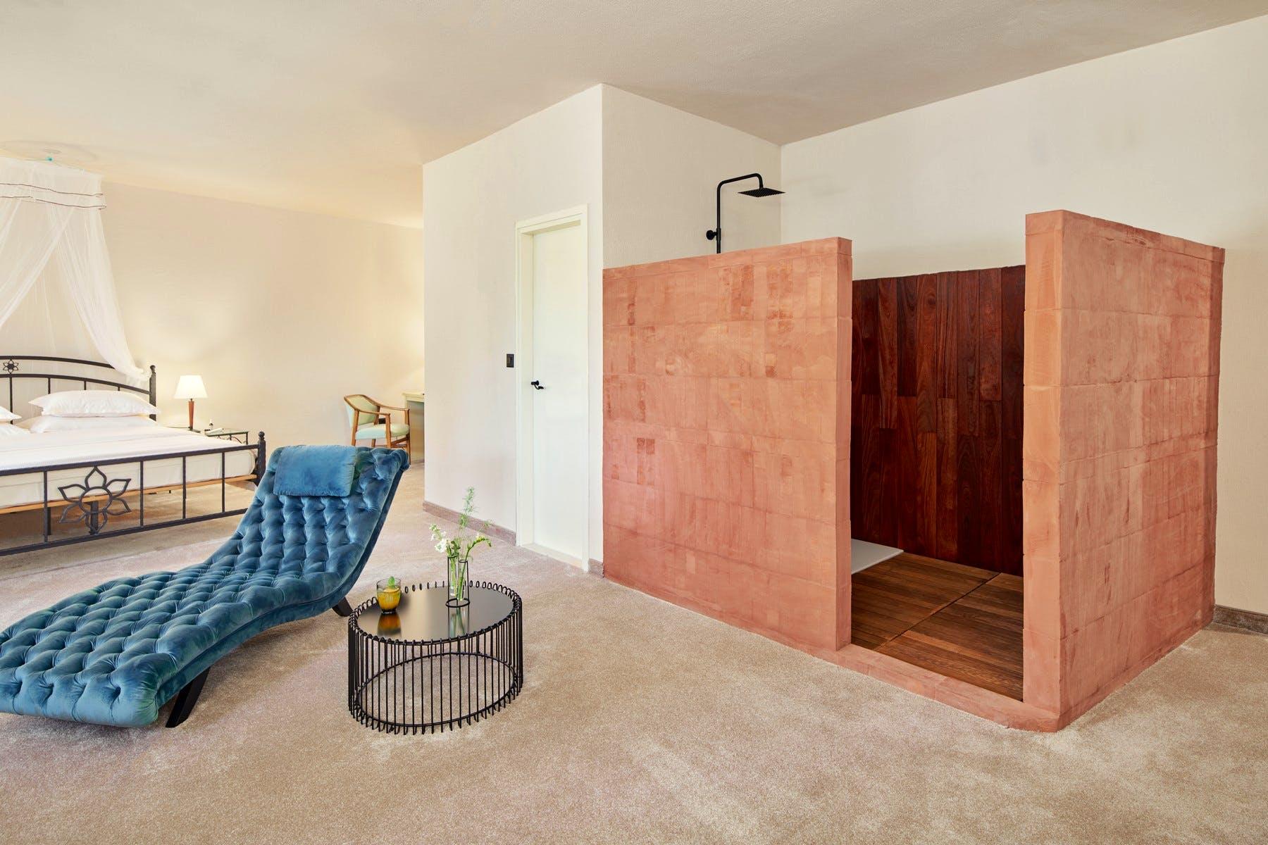 Luxury amenities in the bedroom
