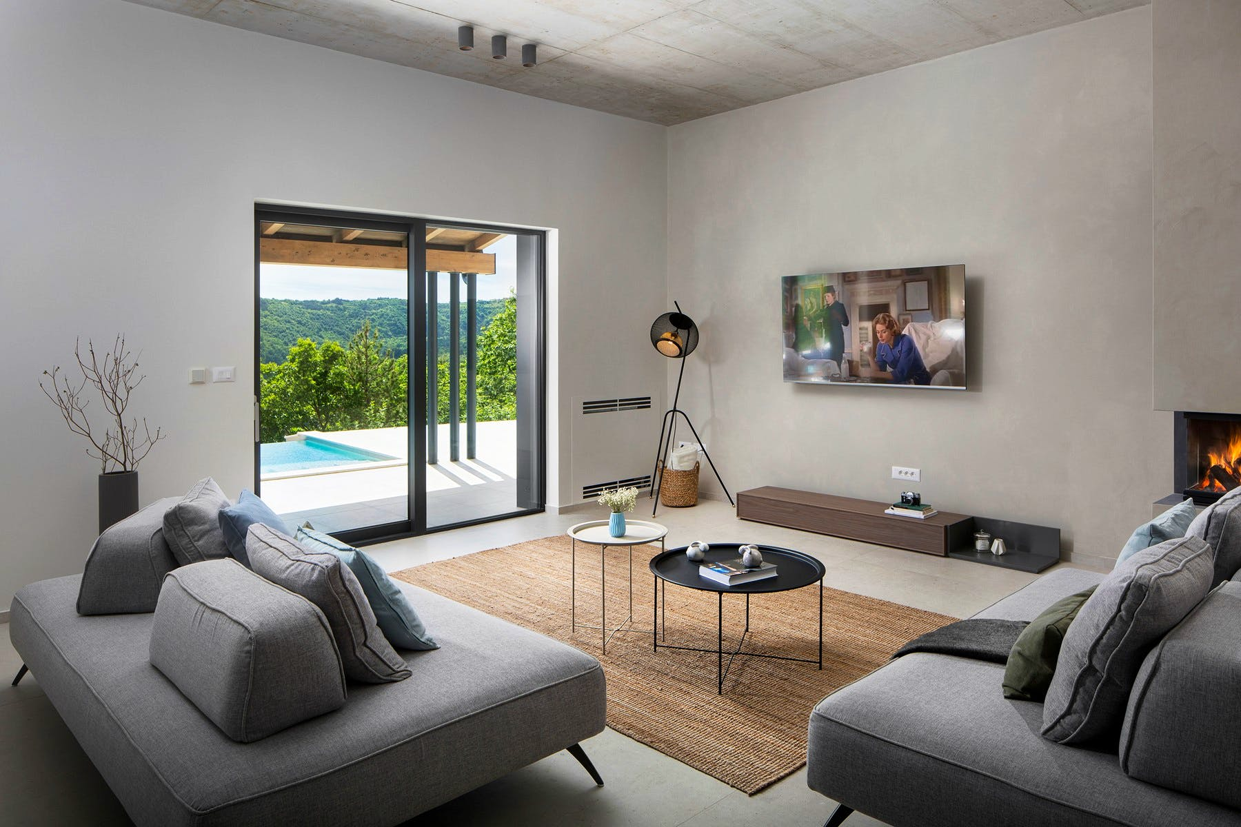 Modern interior of soothing tones