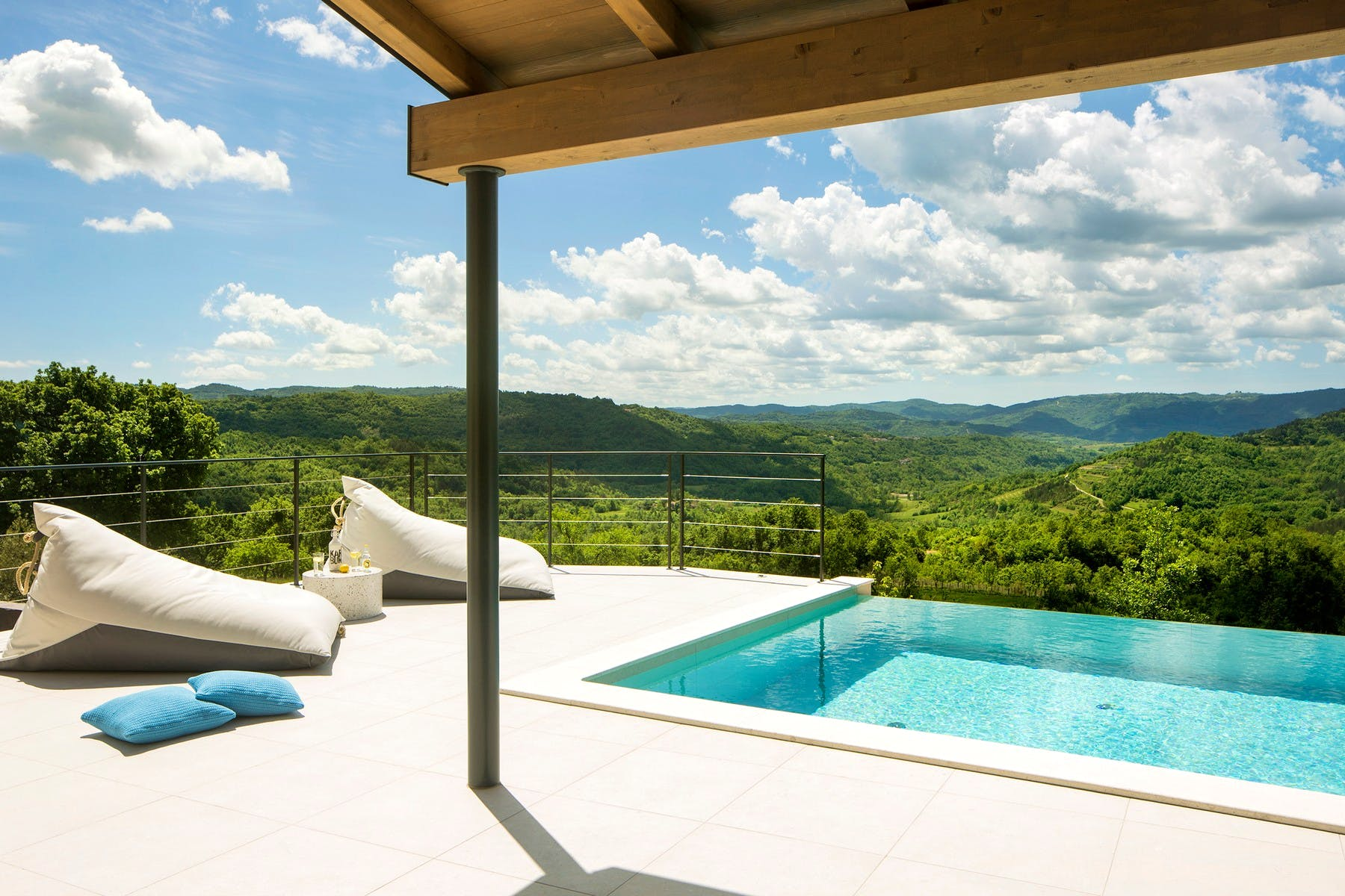 View from the terrace with swimming pool and sundeck