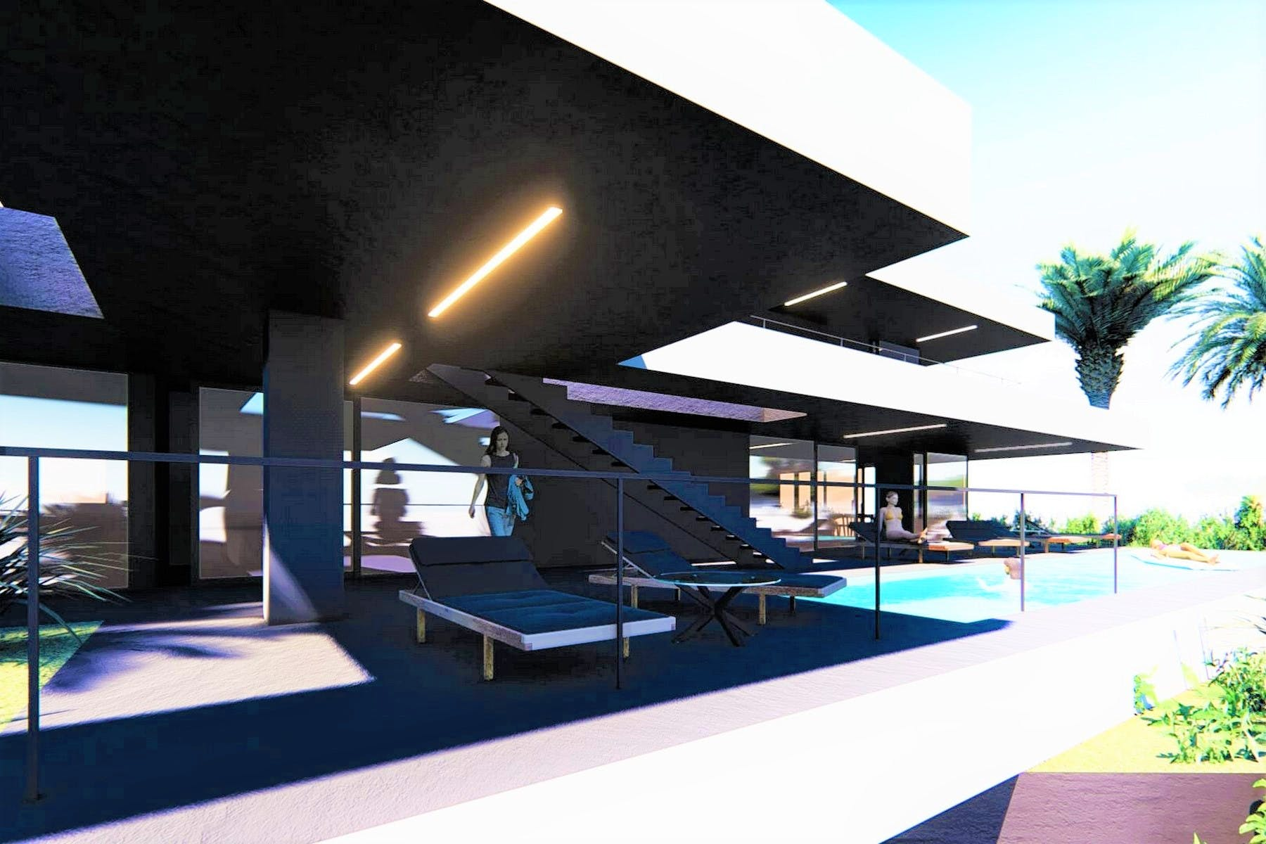 Building plot with project for modern luxury villa near Opatija