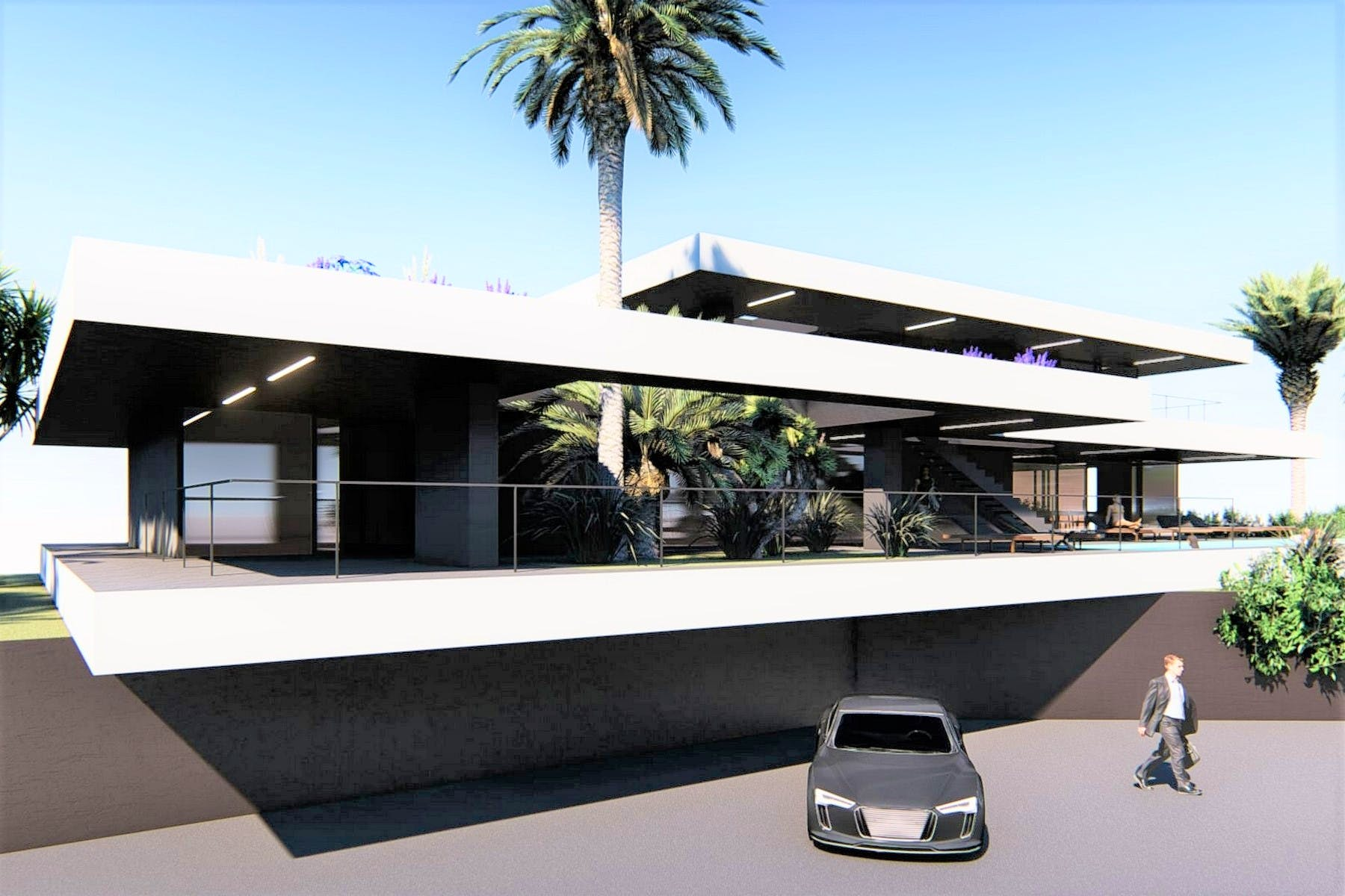 Project for luxury modern villa with sea view near Opatija
