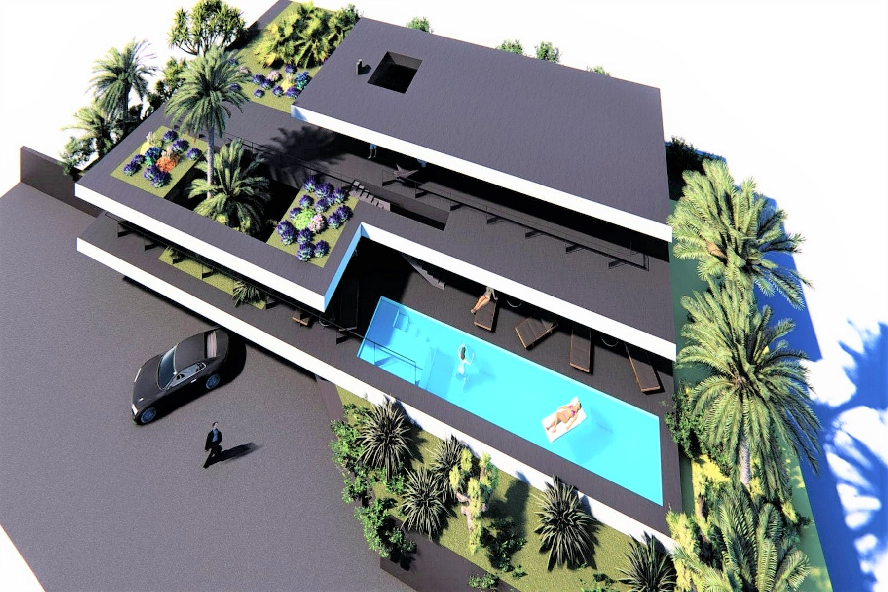 Stunning project for villa with swimming pool and sea view near Opatija