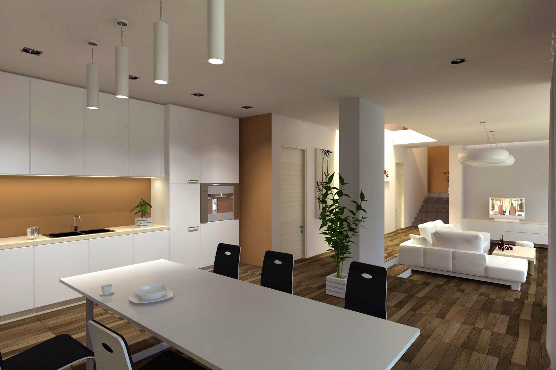 Otvoreni dnevni prostor s kuhinjom, blagovaonicom i dnevnim boravkom