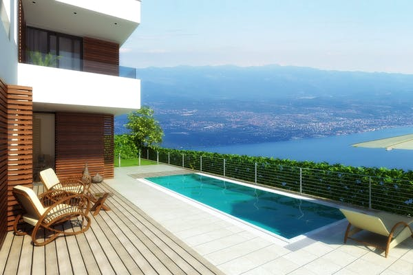 Contemporary villas with swimming pool in Opatija for sale