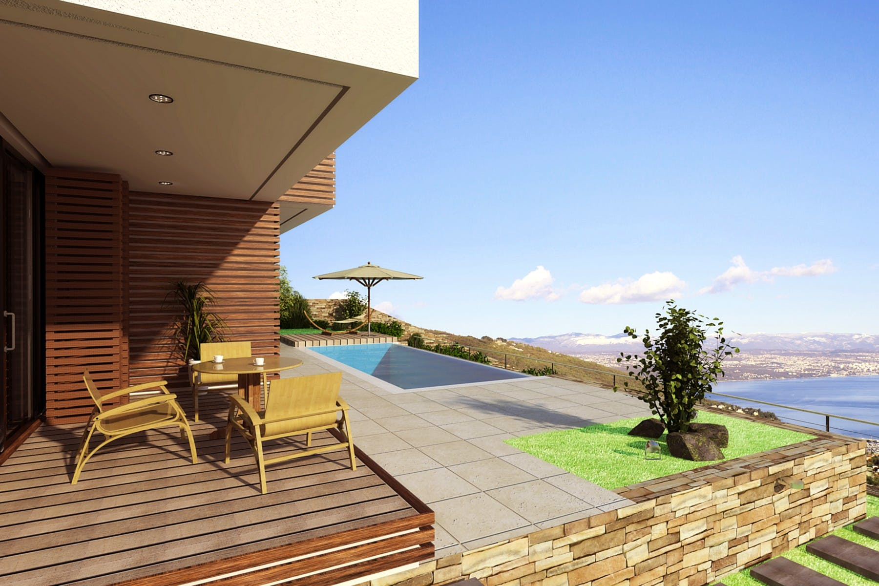 Zapanjujući pogled na more s terase