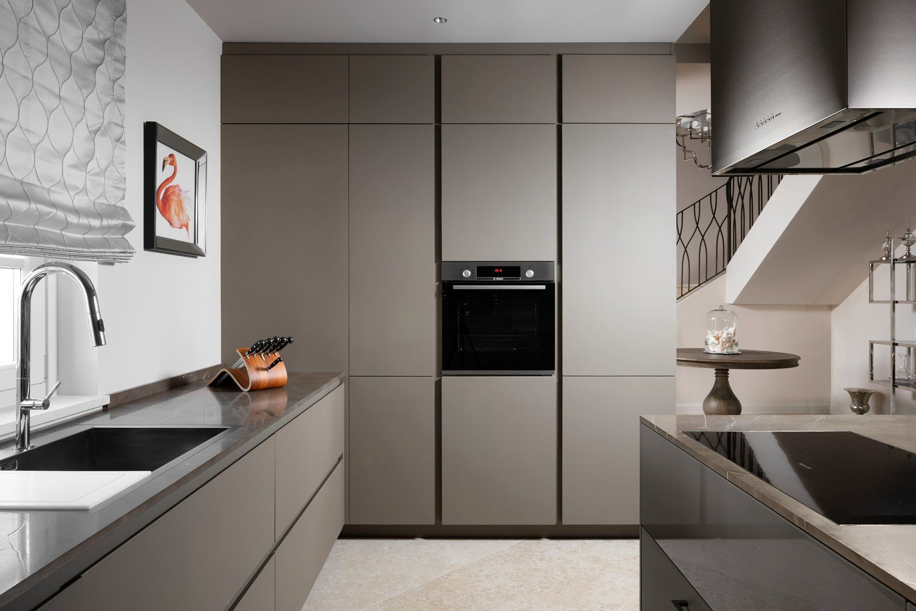 Fully-fitted kitchen area
