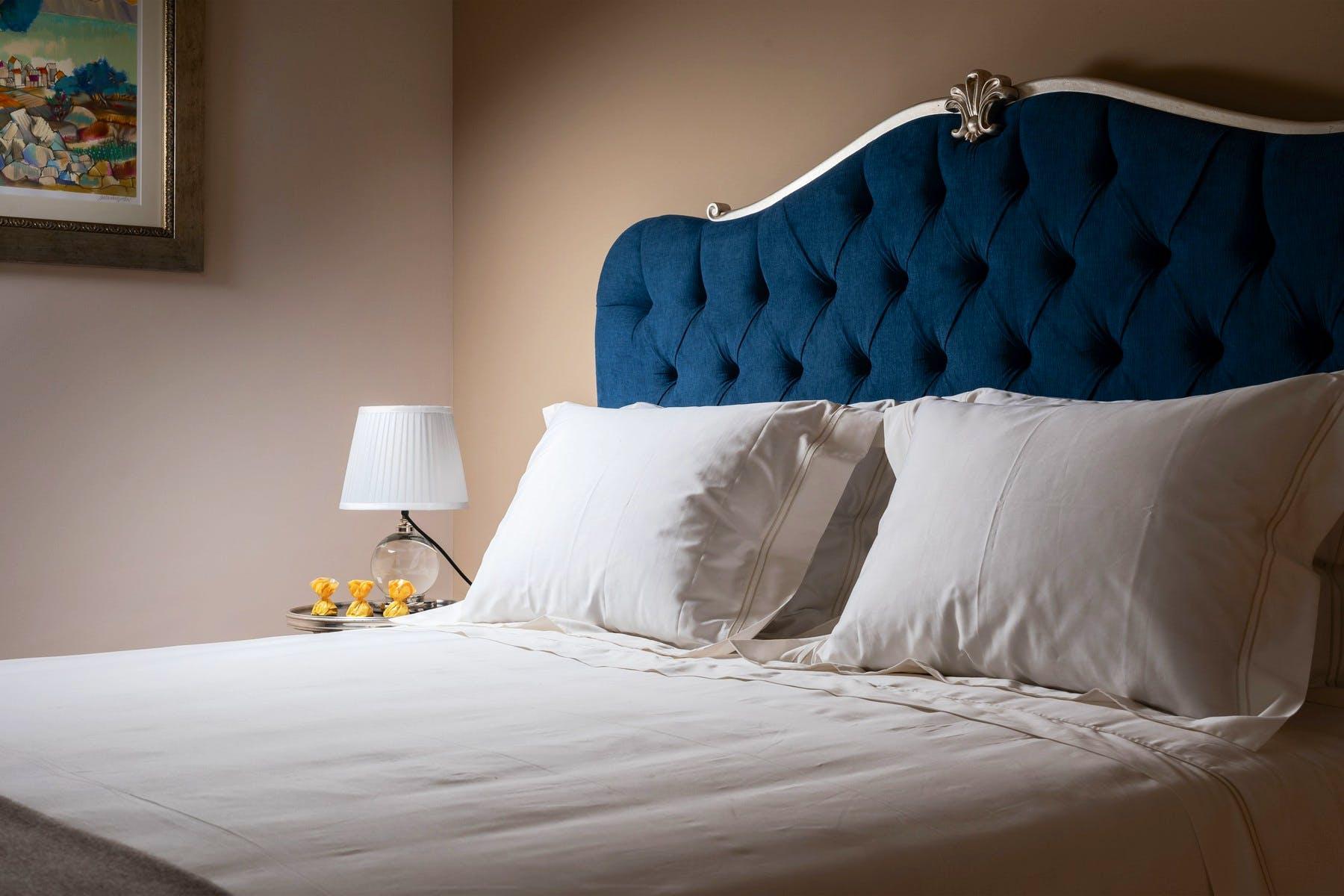 Royal blue bed design