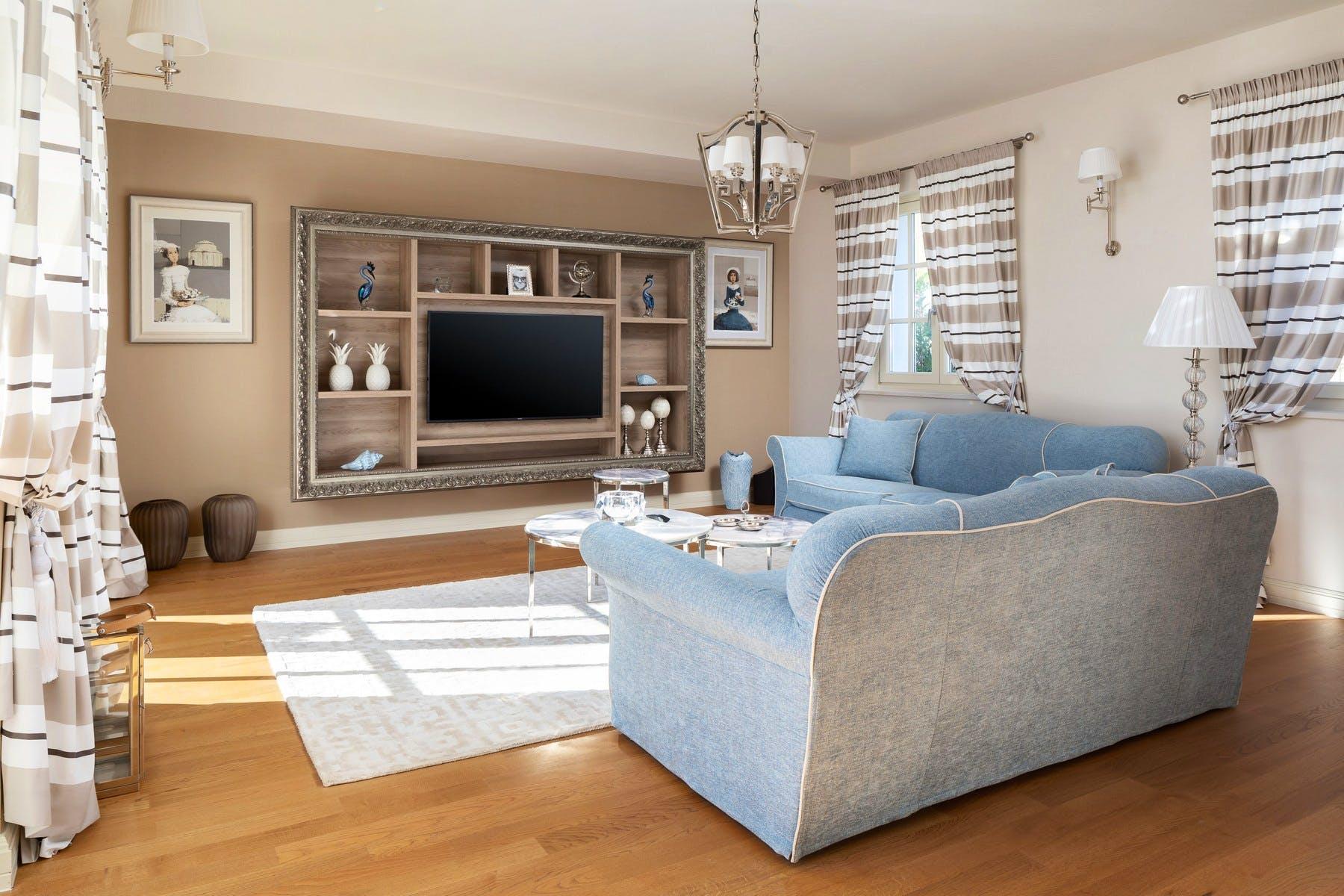 Spacious living room boasting timeless elegance