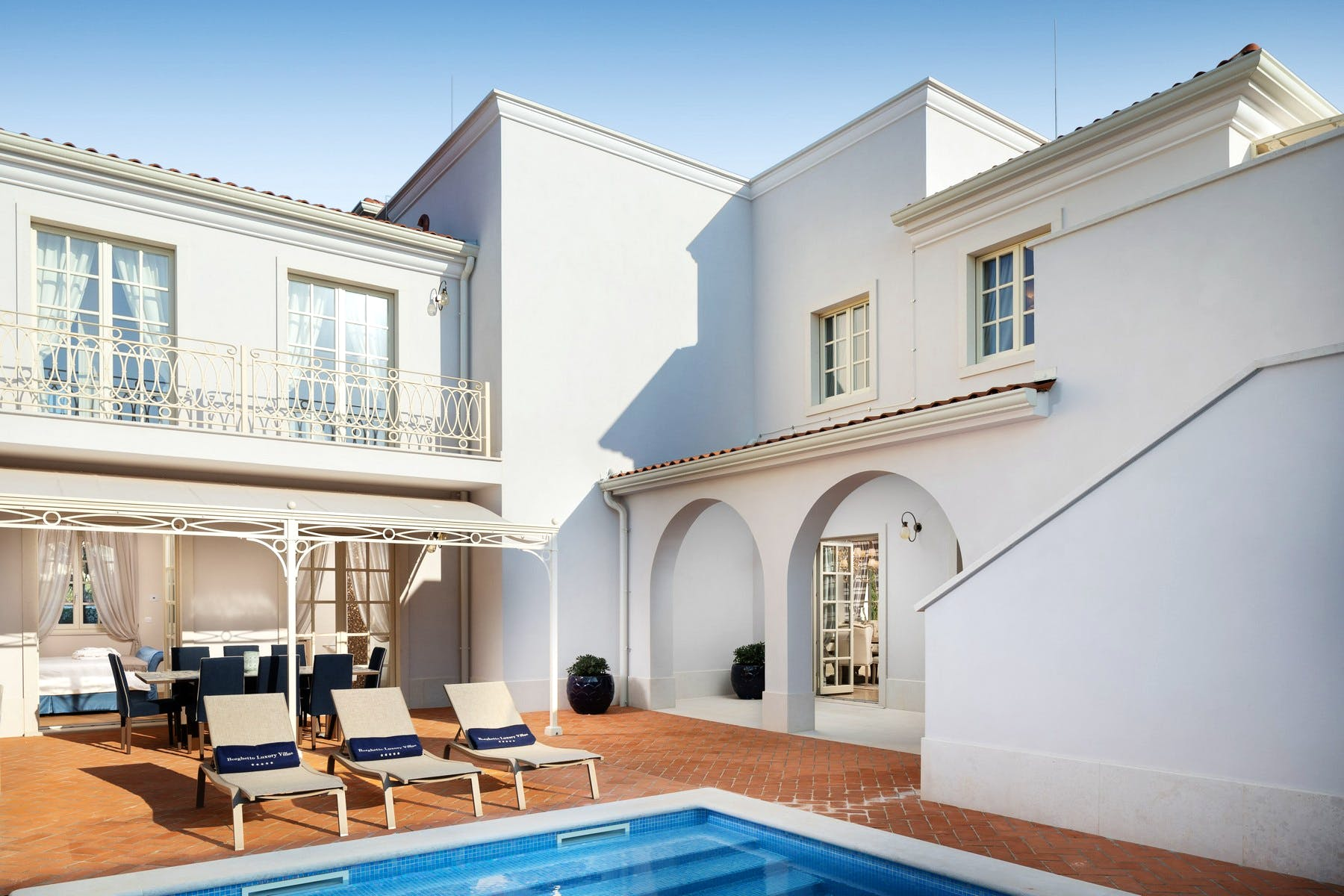 Vacation villa with pool within luxury resort