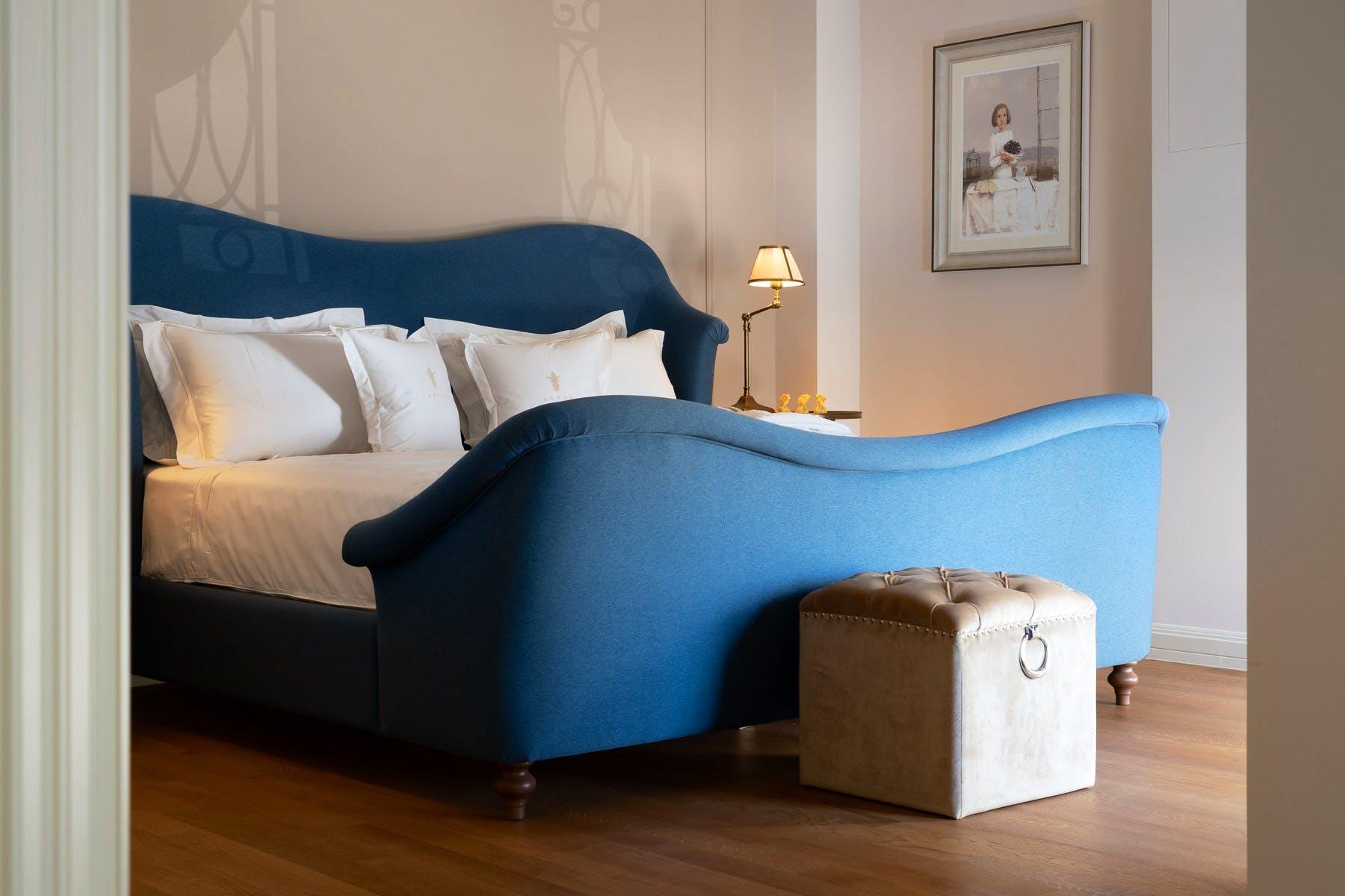 Double bedroom boasting refined interior decor