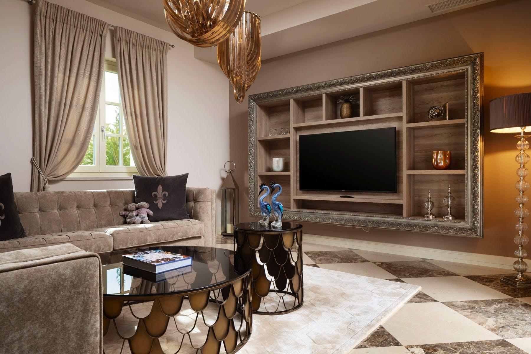 Stylish living room with lavish details