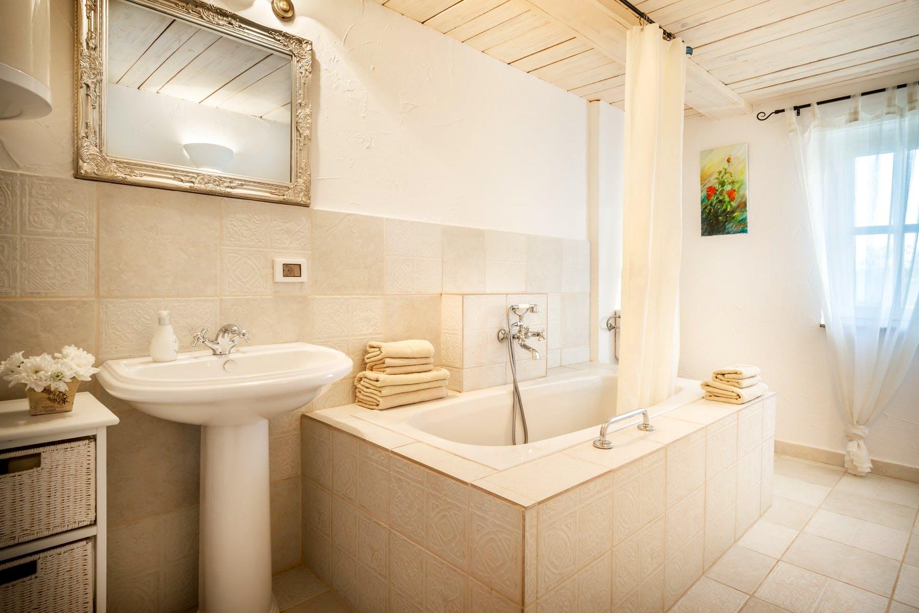 Bathroom with the tub