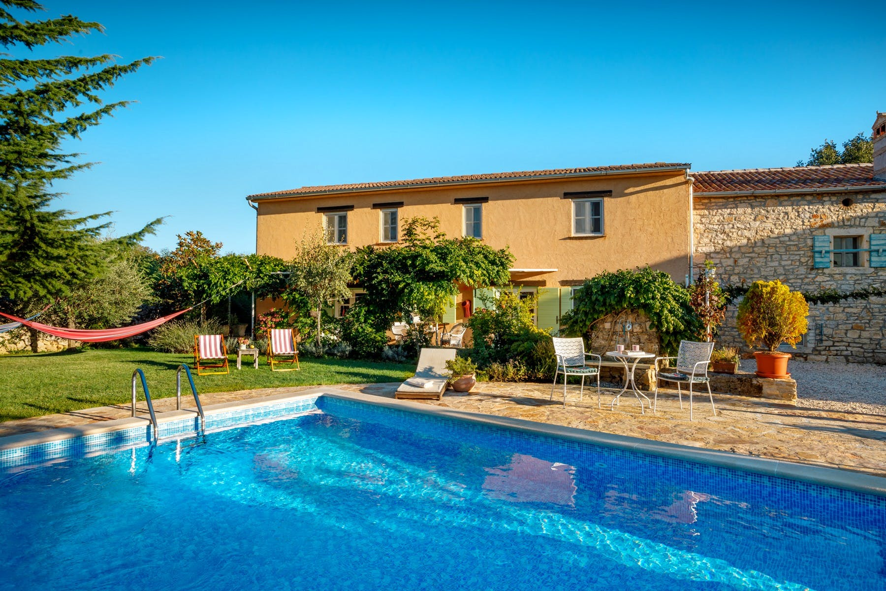 Traditional Istrian home with swimming pool