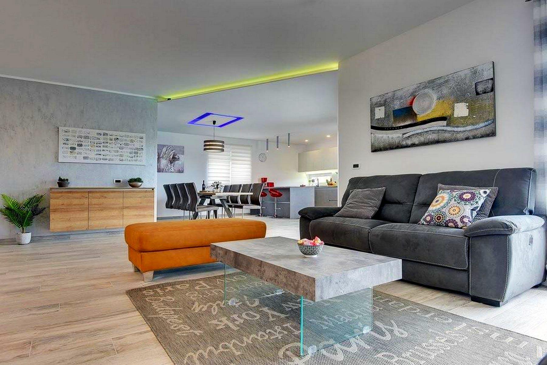Modern interior of the villa in Istria for sale