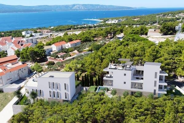 Two contemporary villas under construction