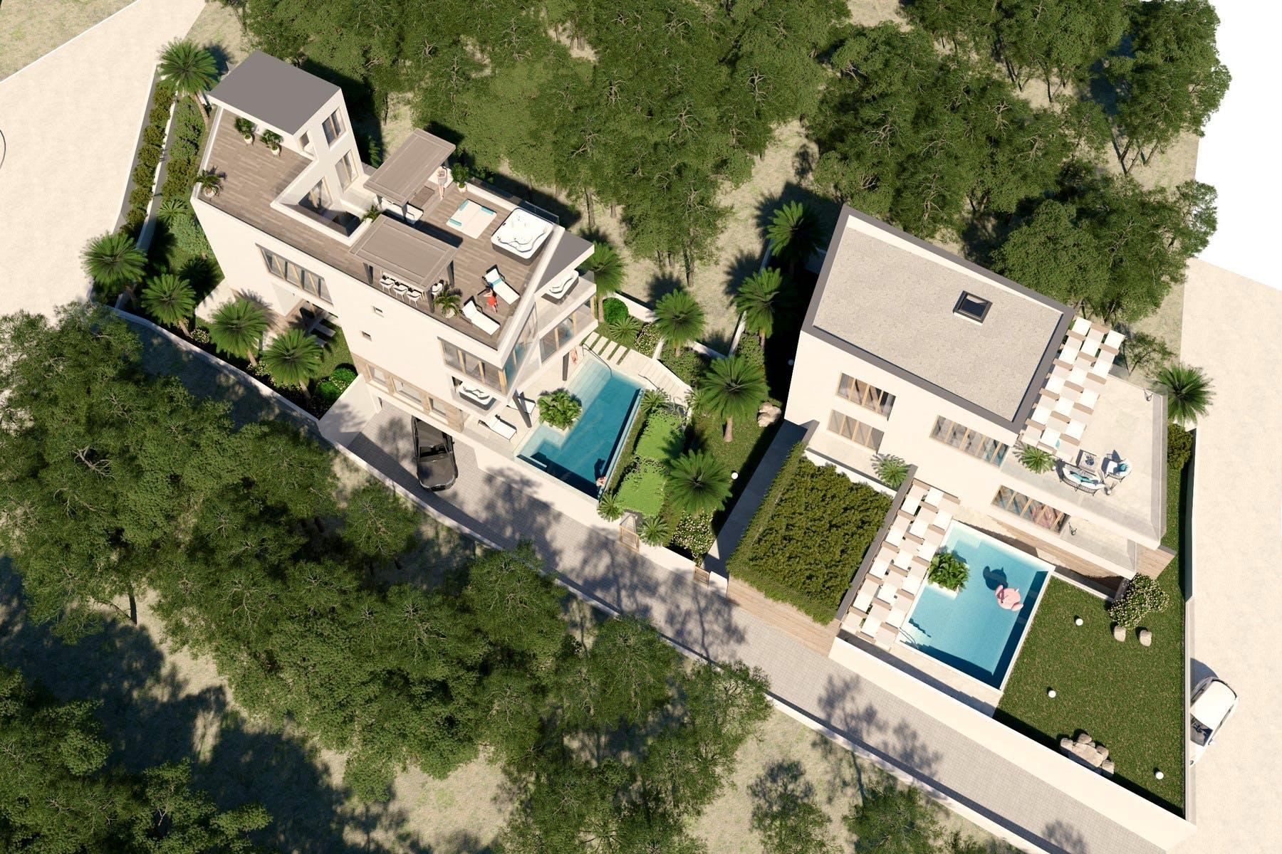 Dvije vile s bazenom na prestižnoj lokaciji