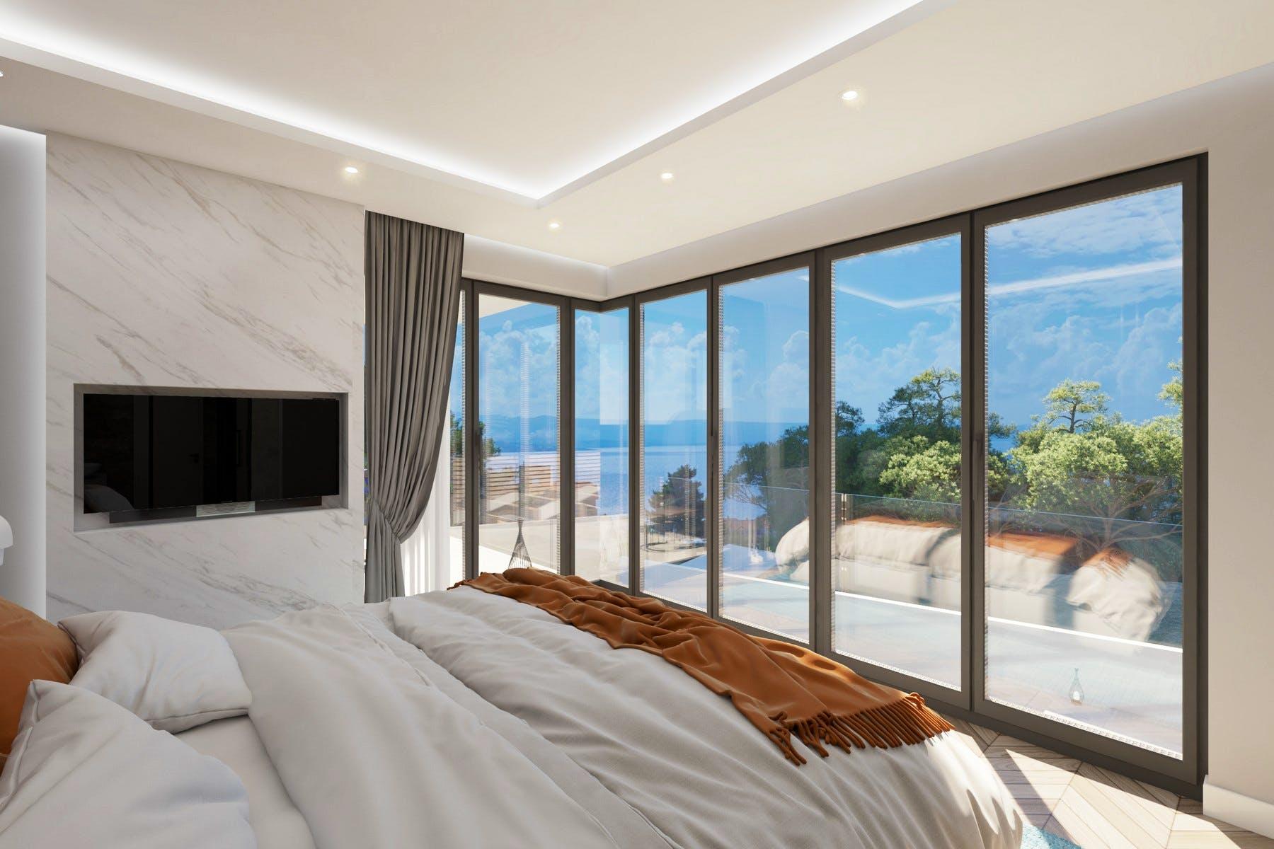 Slikoviti pogled na more iz spavaće sobe