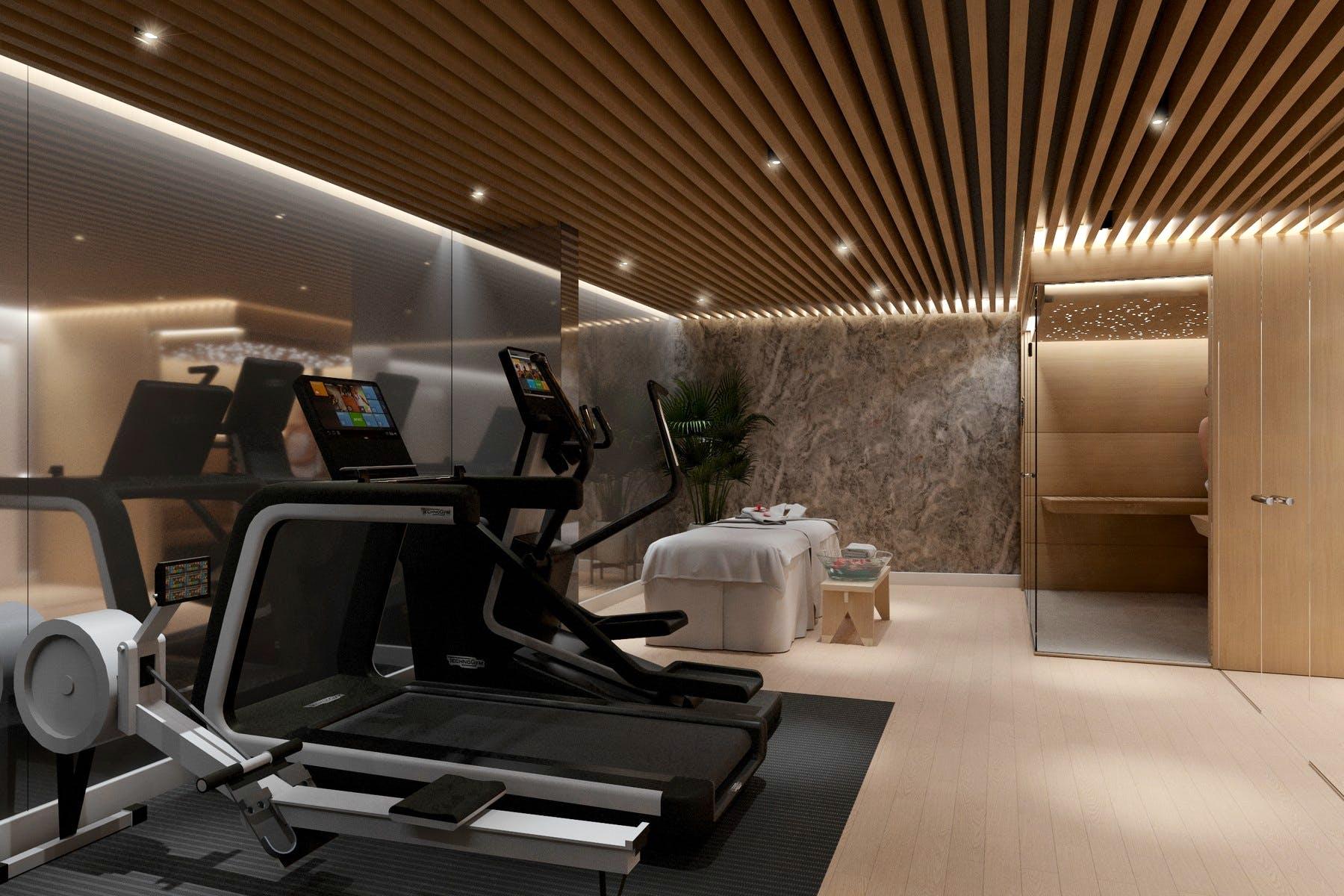 Potpuno opremljena fitness soba