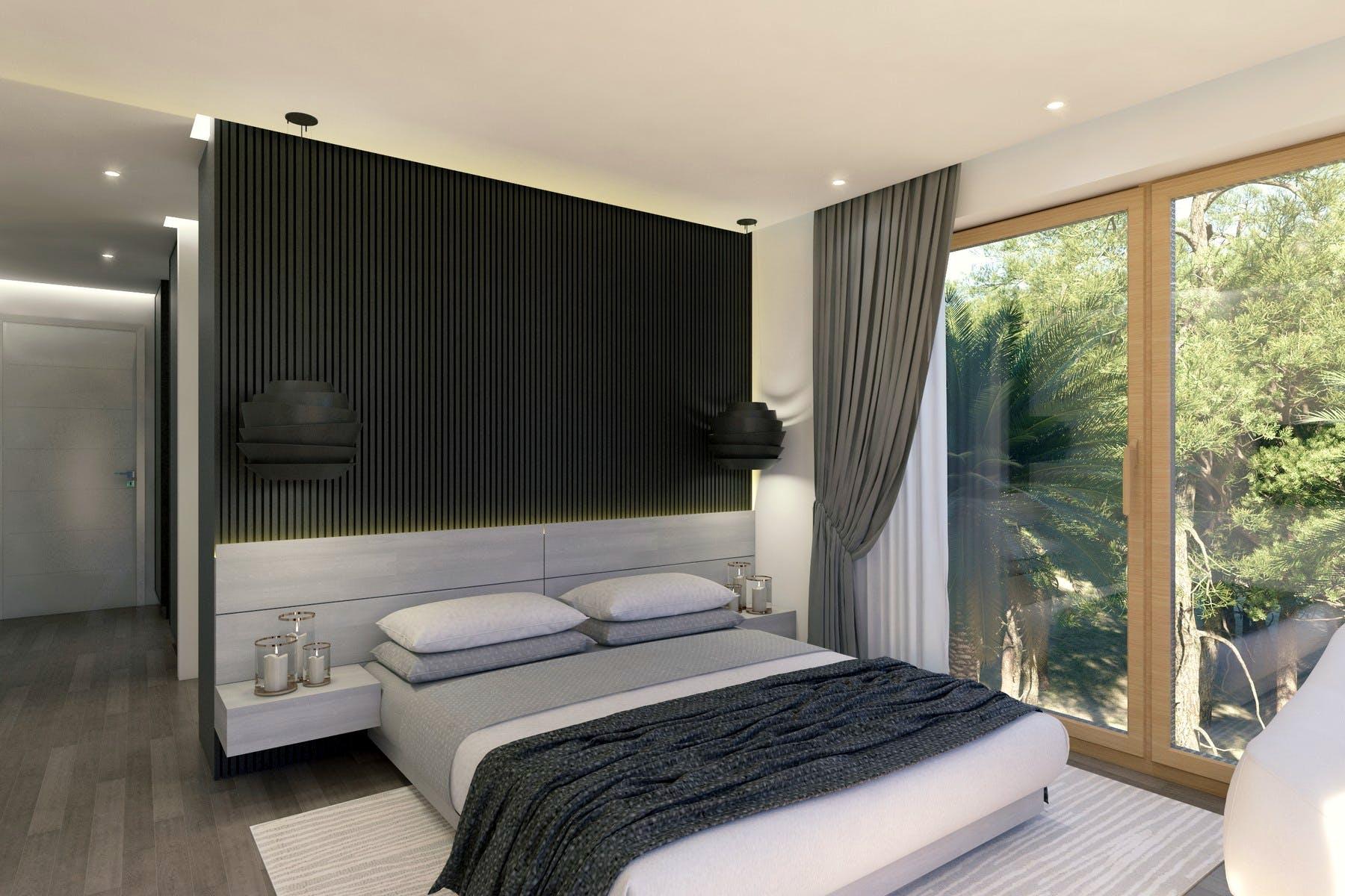 Topao interijer spavaće sobe