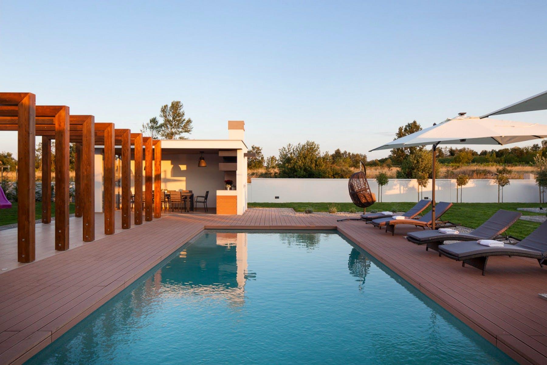 Carefully designed outside area of the villa