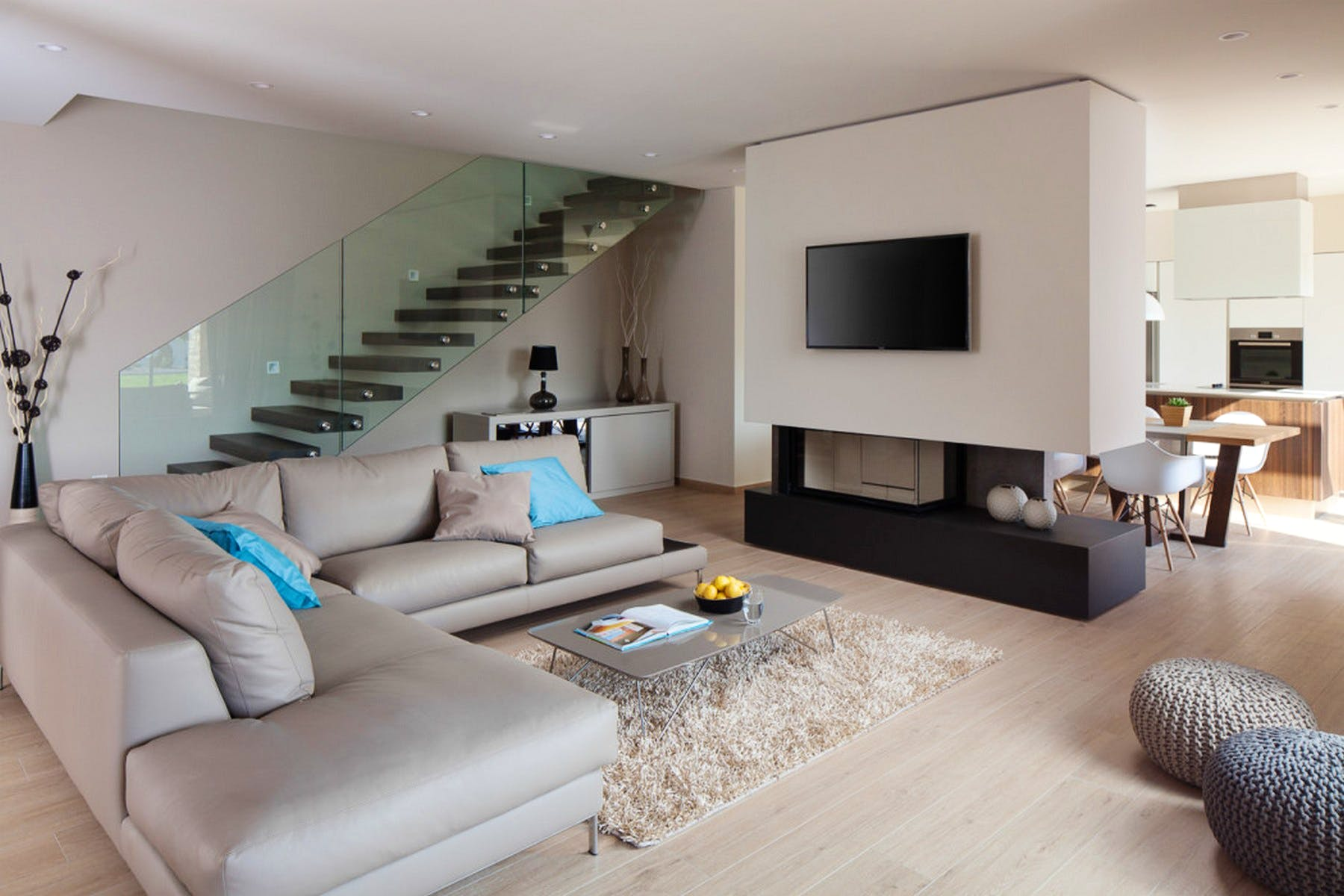 Soothing tones of living room