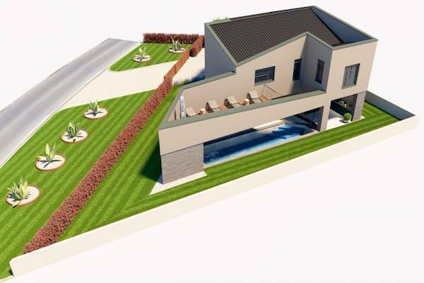 Dizajnerska vila s bazenom i prostranim vrtom