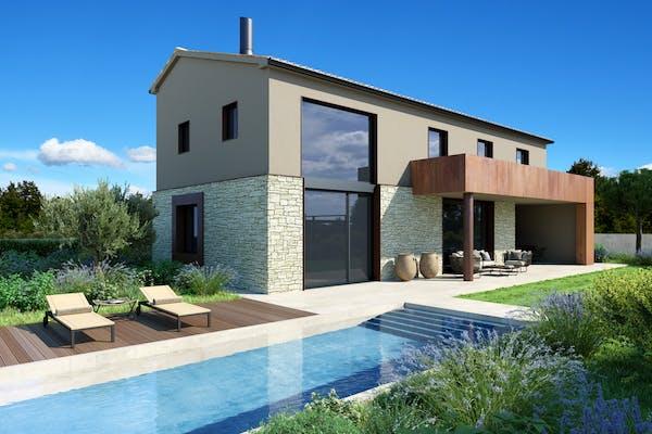 Villas with swimming pool near Rovinj