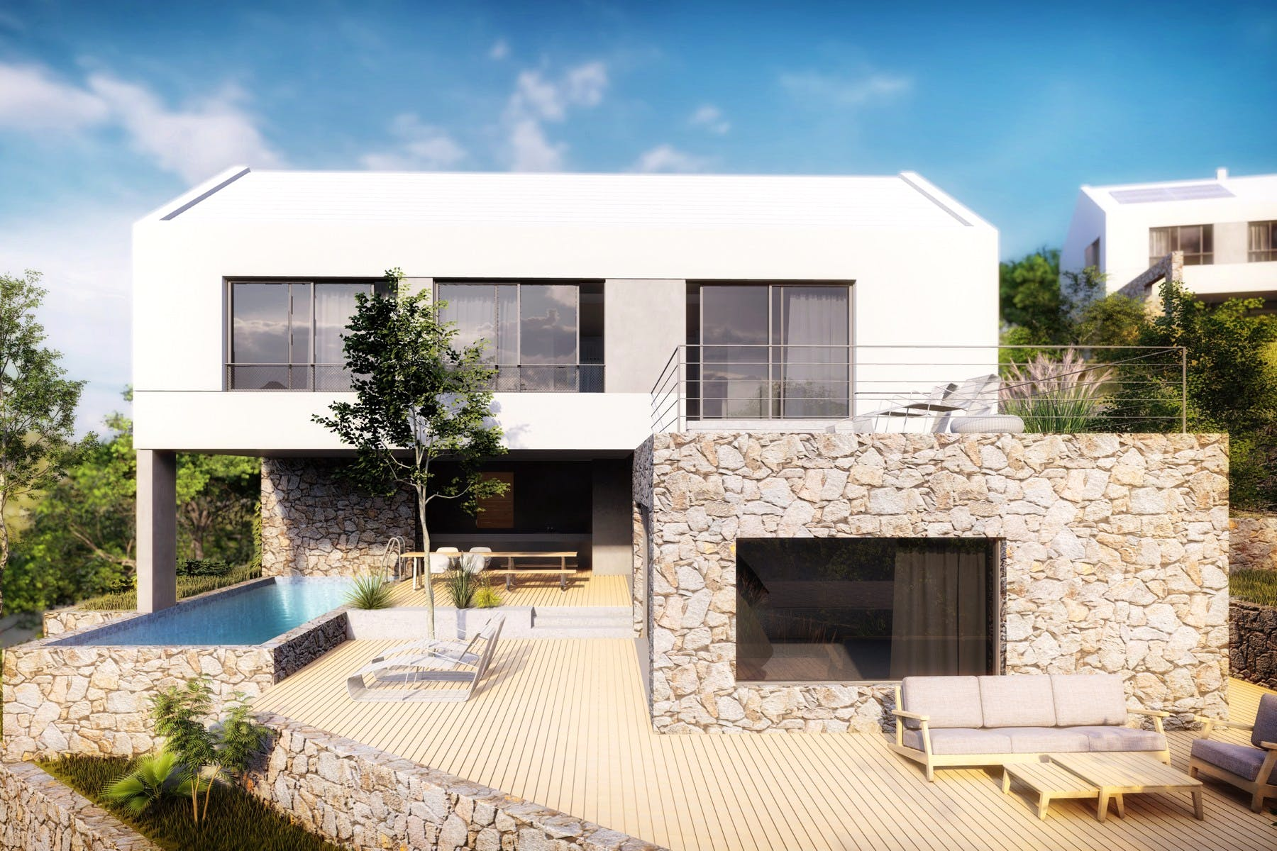 Project of a luxury villa with modern interior