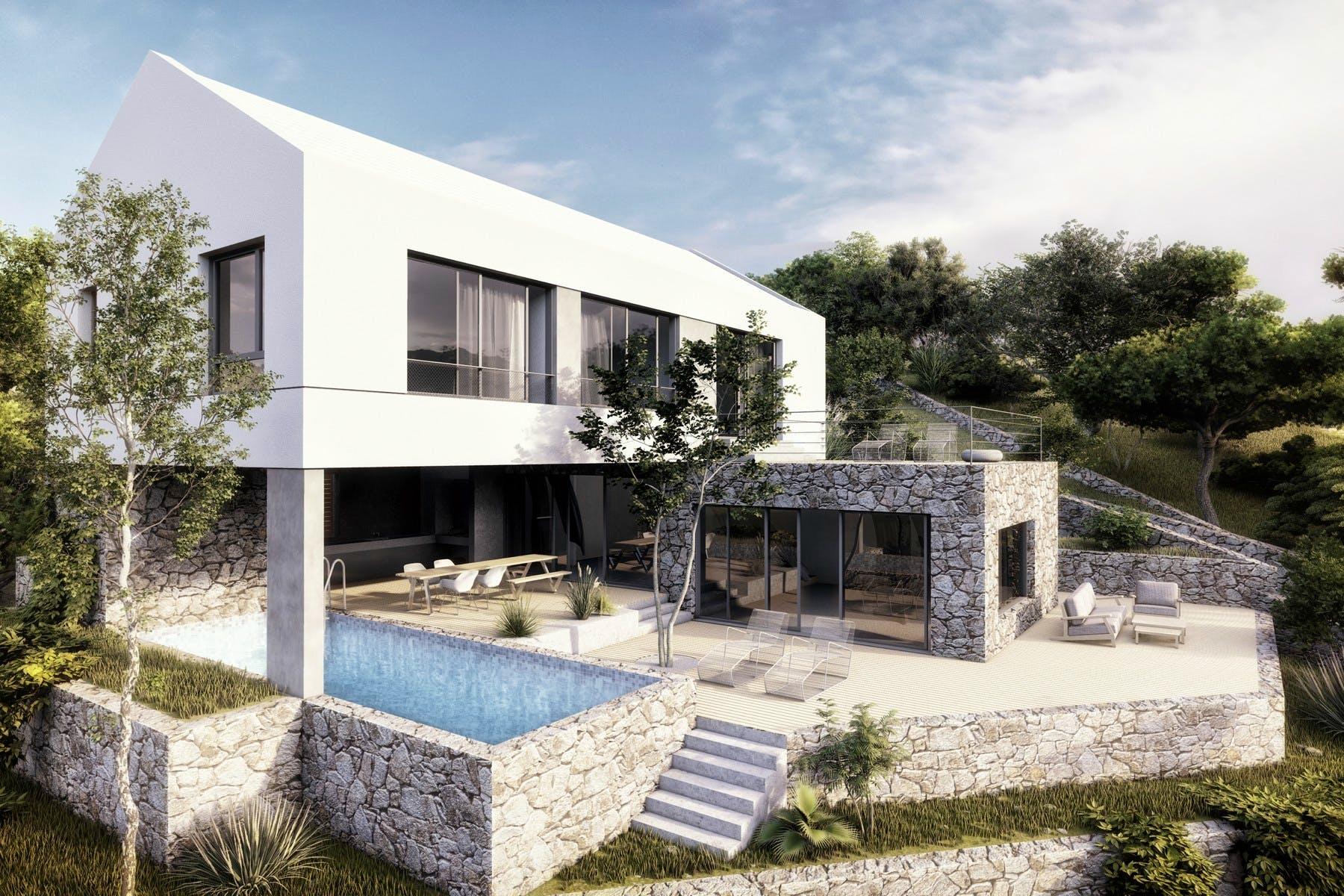 Luxury villa on the south side of Brac