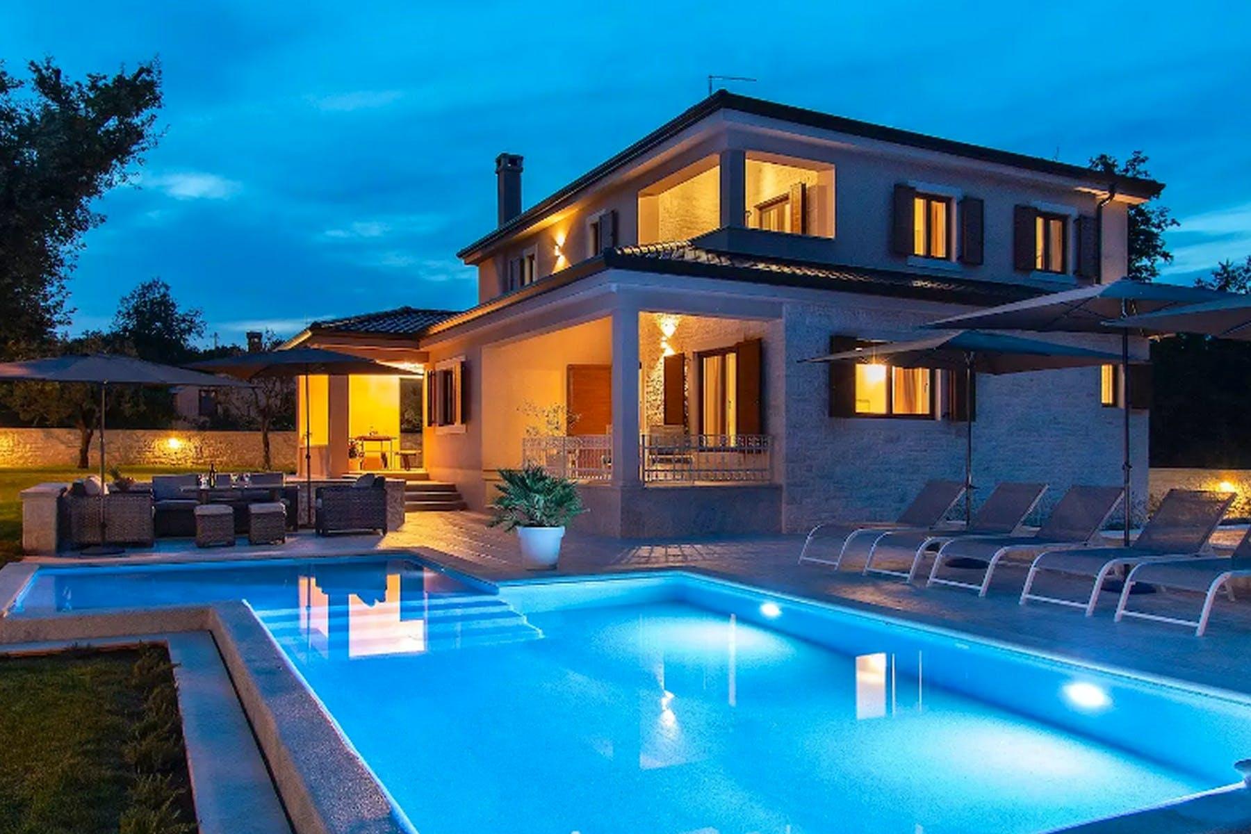 Night ambiance of the villa