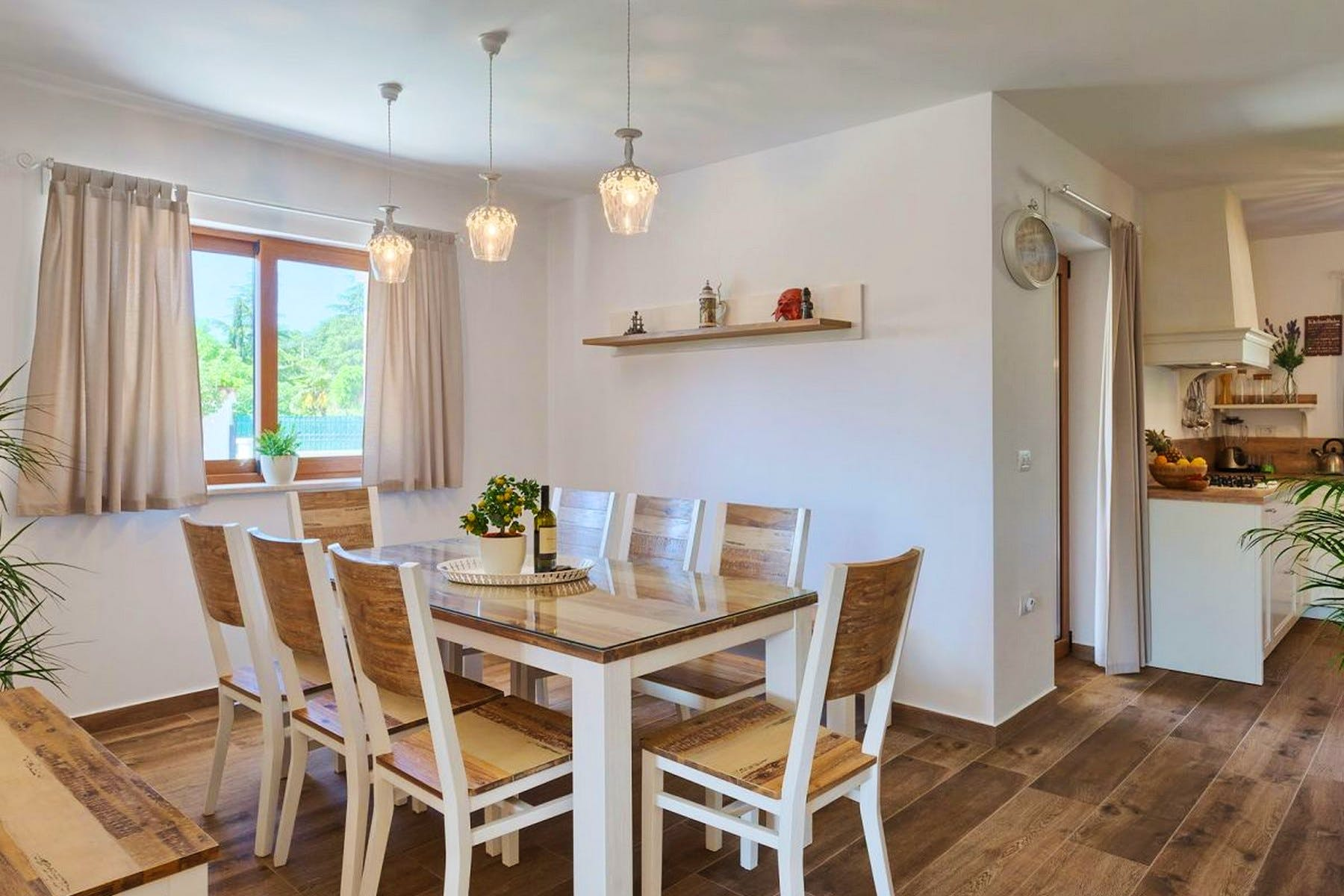 Dining room with table for 8 people