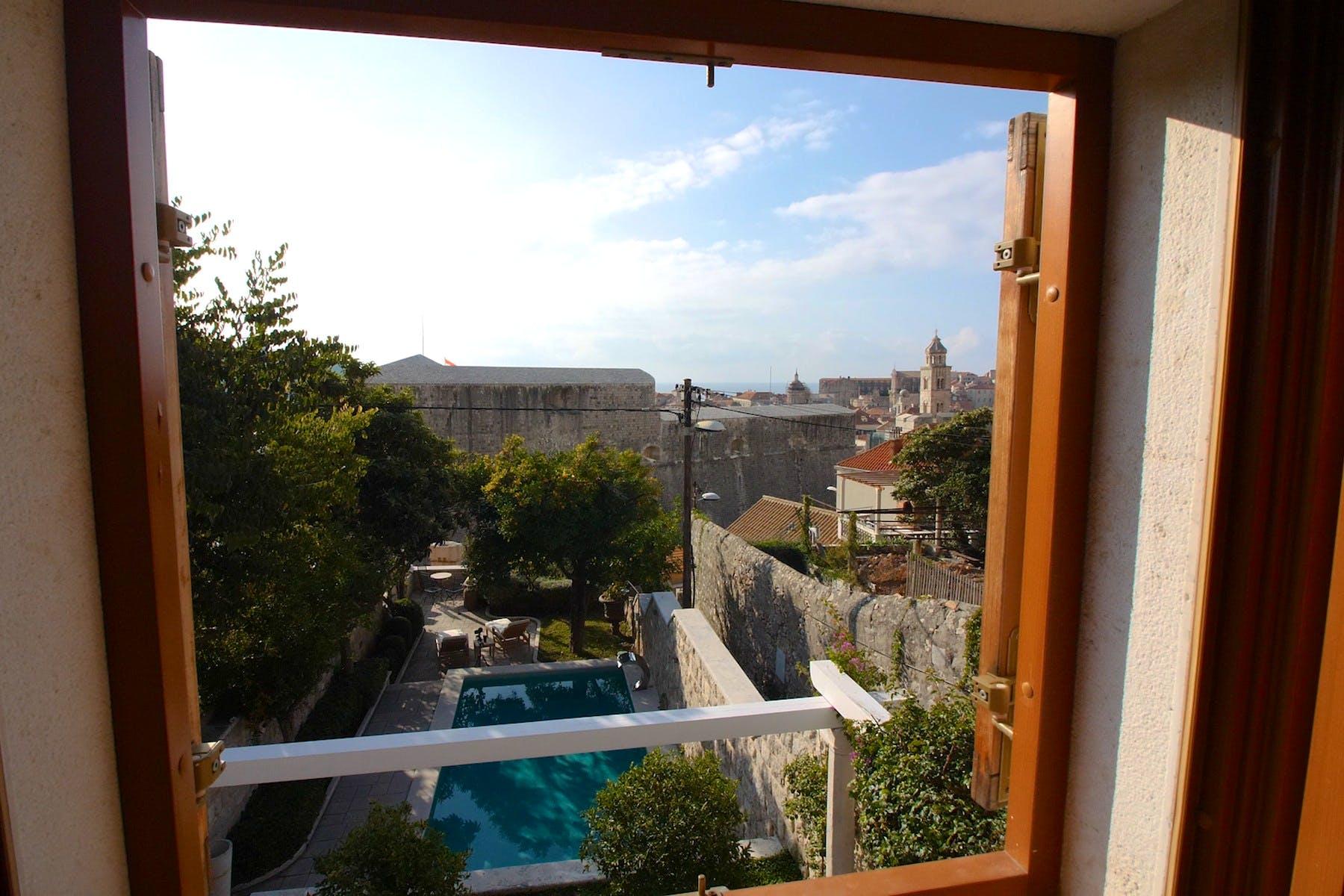 Picturesque view of Dubrovnik and pristine Adriatic