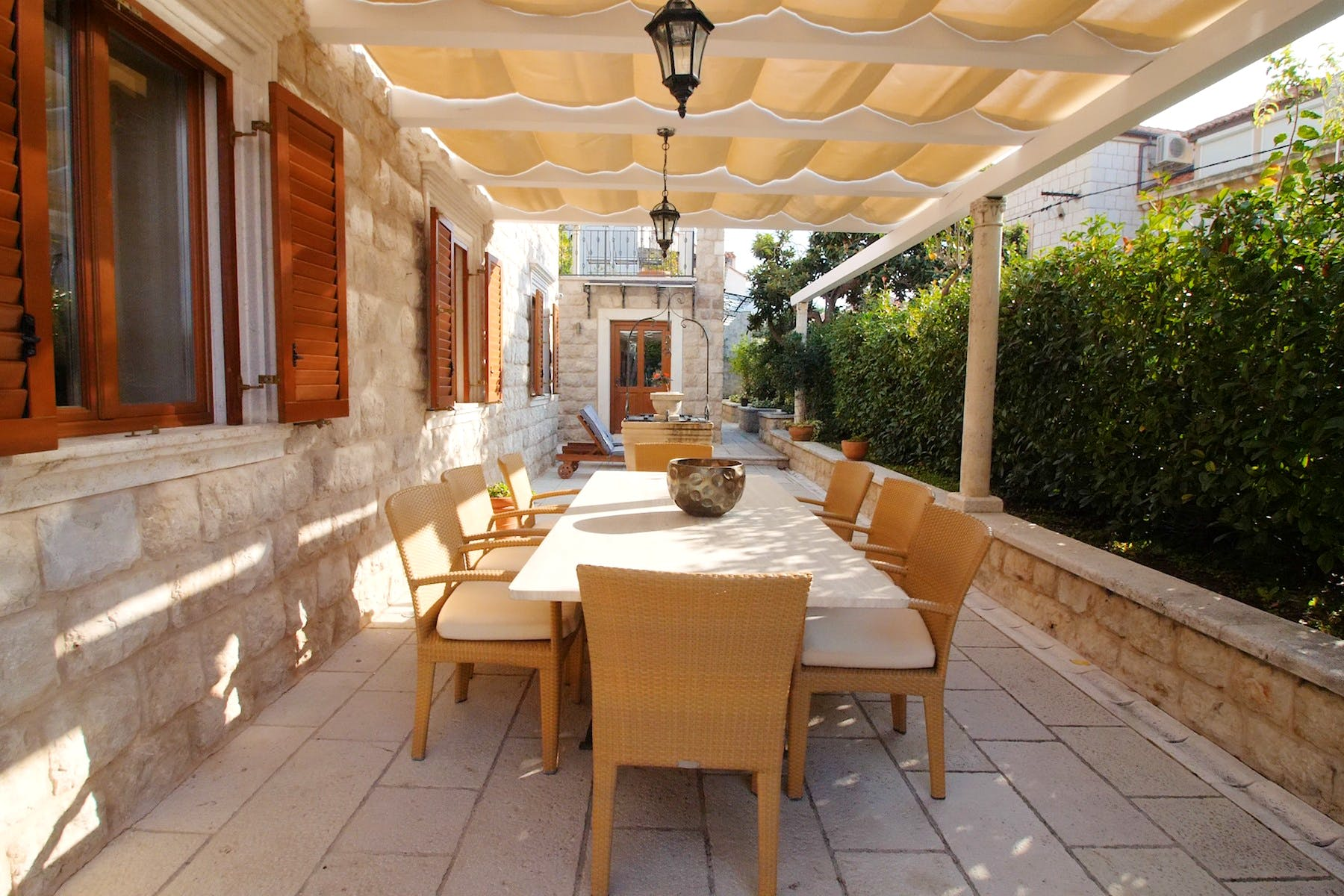 Large outdoor dining area