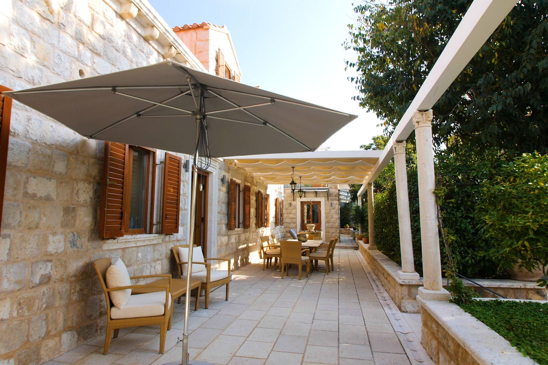 Terrace area with outdoor table