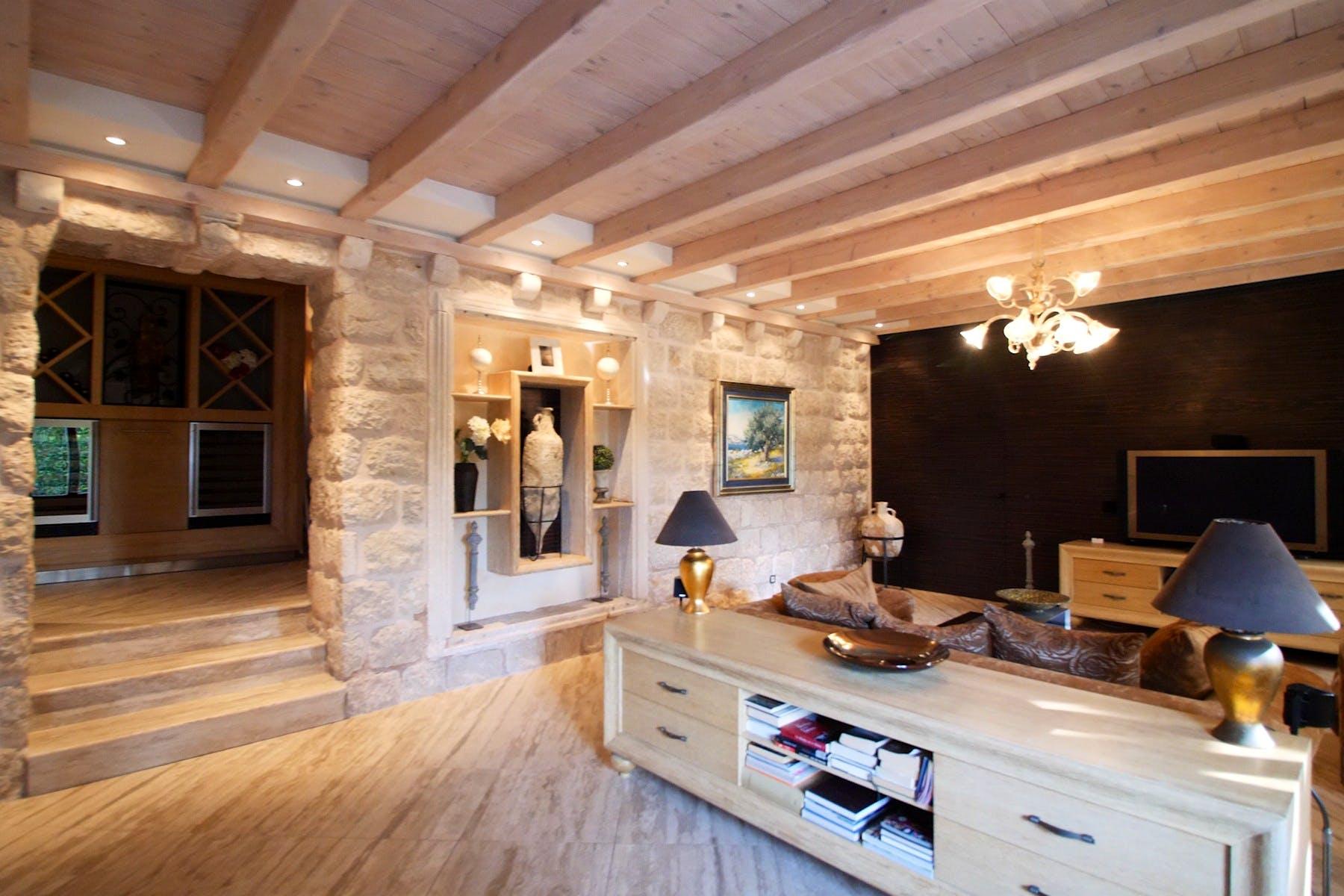 Elegant living room area enhanced by luxurious details