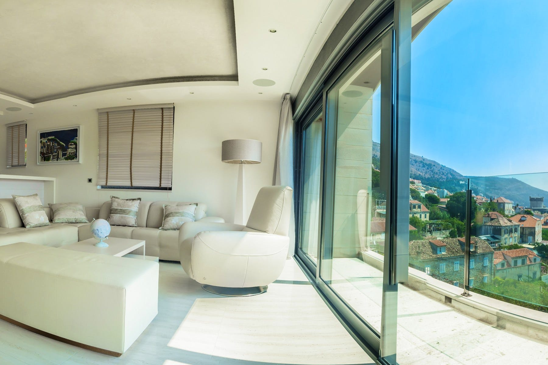 Living room with the balcony with beautiful views