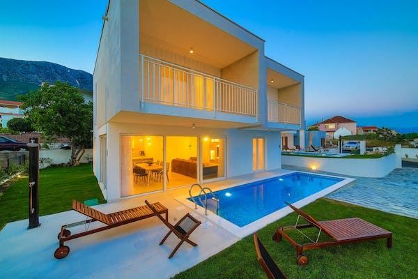 Contemporary exterior of villa for sale