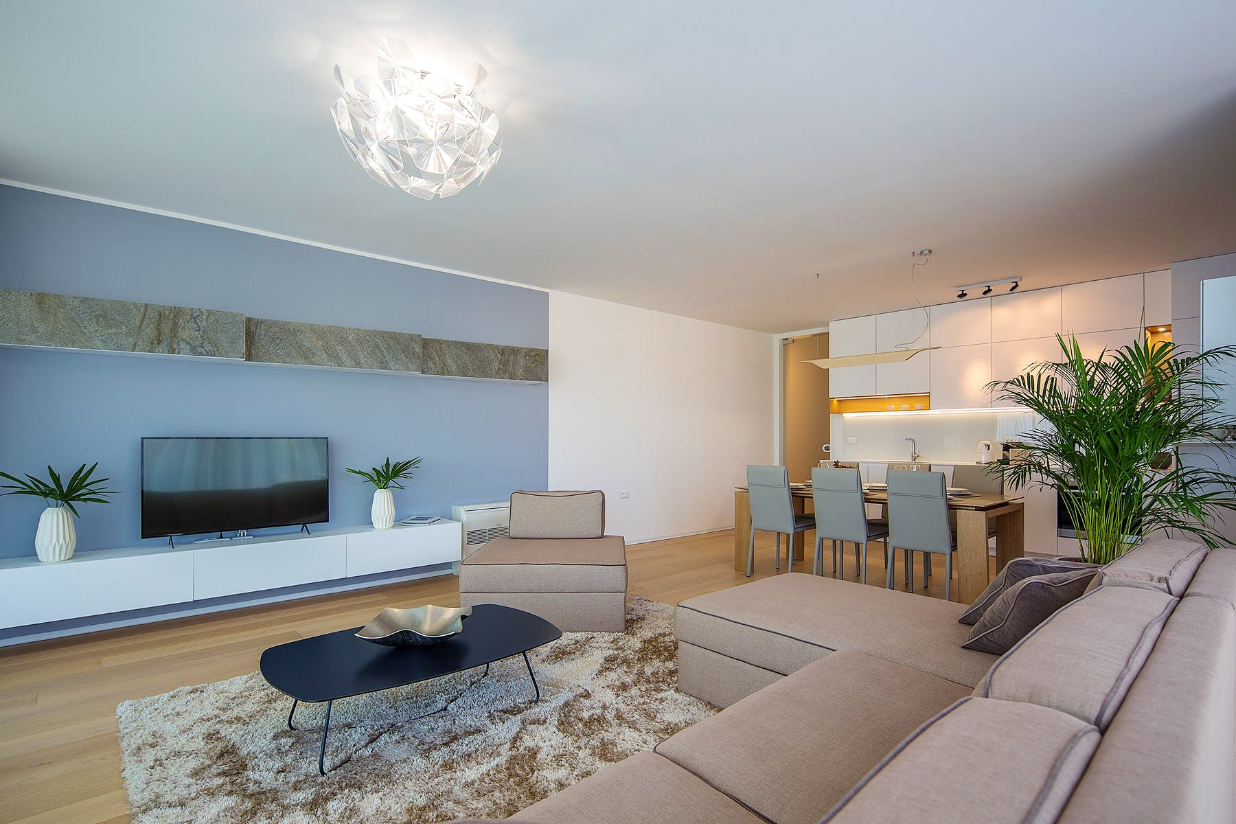 Stylish interior of luxury apartment in Opatija