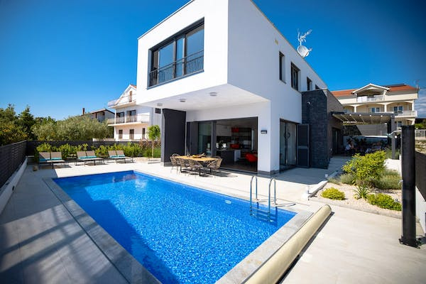 Contemporary two-level villa with pool