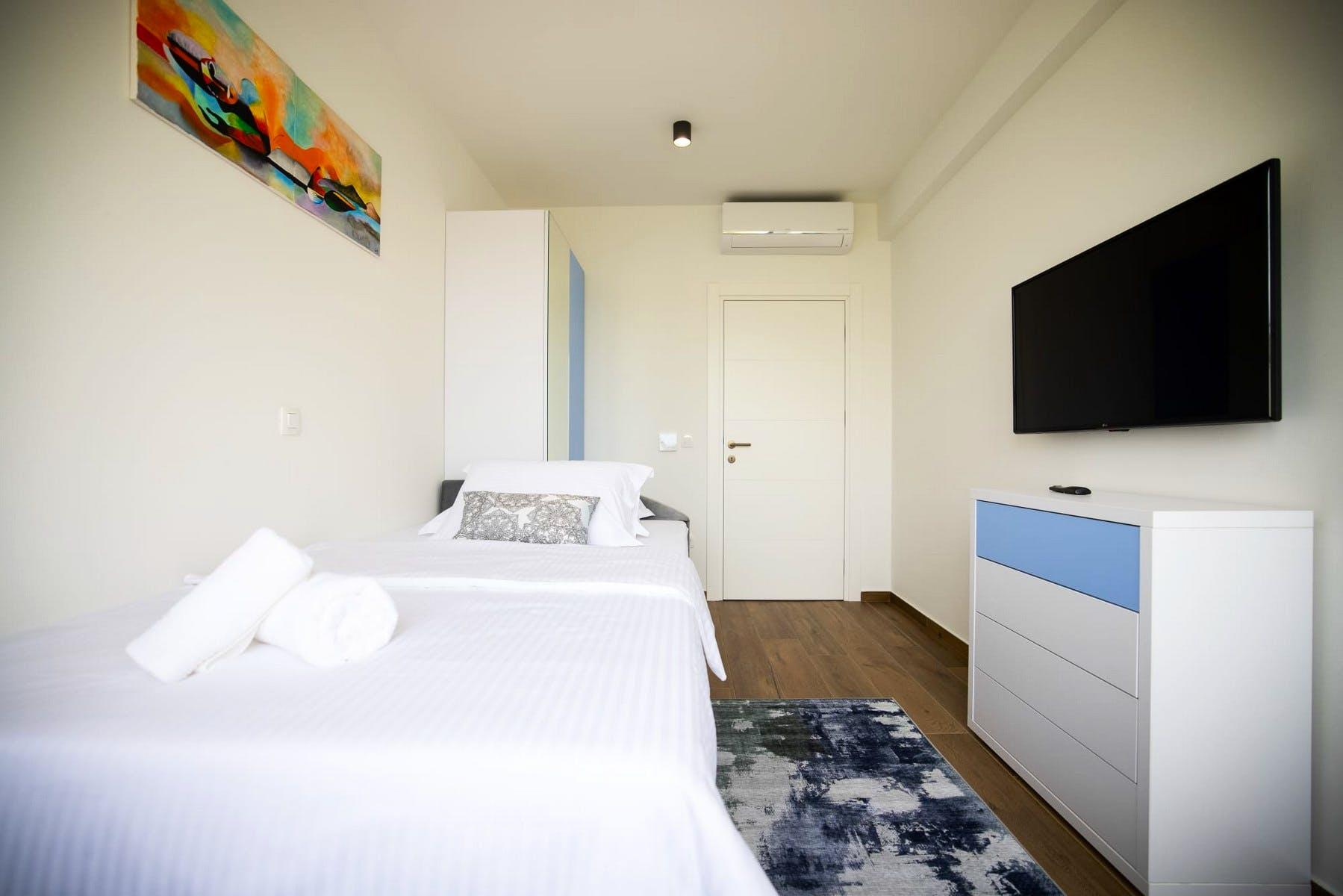 Elegant bedroom area