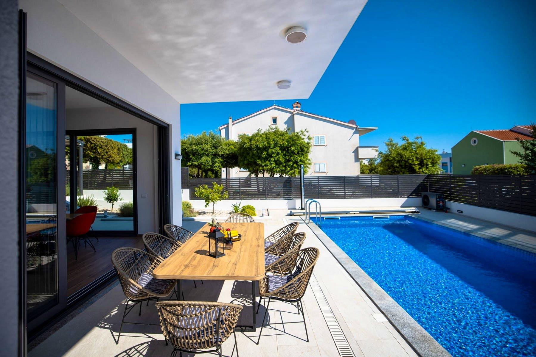 Contemporary villa with pool close to beach
